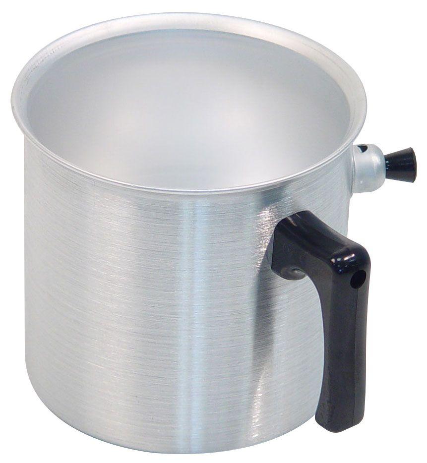 """Ковш """"Axentia"""", выполненный из полированного алюминия, предназначен для приготовления блюд на медленном огне без пригорания. Идеален для приготовления молочных продуктов, детского питания и диетических блюд. Ручка ковша выполнена из термопластика.Подходит для всех типов плит и варочных панелей, в том числе индукционных. Можно мыть в посудомоечной машине."""