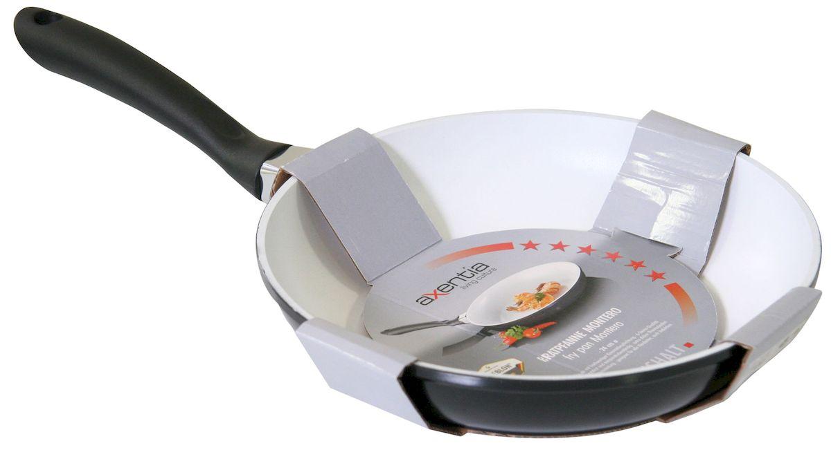 Сковорода Axentia Montero, керамическое покрытие ILAG, 24 см. 221421 сковорода cucina 3500 axentia 24 см