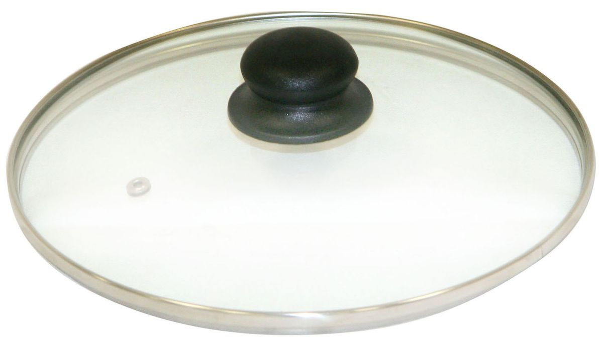 """Крышка """"Axentia"""" изготовлена из жаропрочного стекла с ободом из нержавеющей стали и пластиковой ручкой. Она оснащена отверстием для выпуска пара. Окантовка предохраняет от механических повреждений. Изделие удобно в использовании и позволяет контролировать процесс приготовления пищи."""