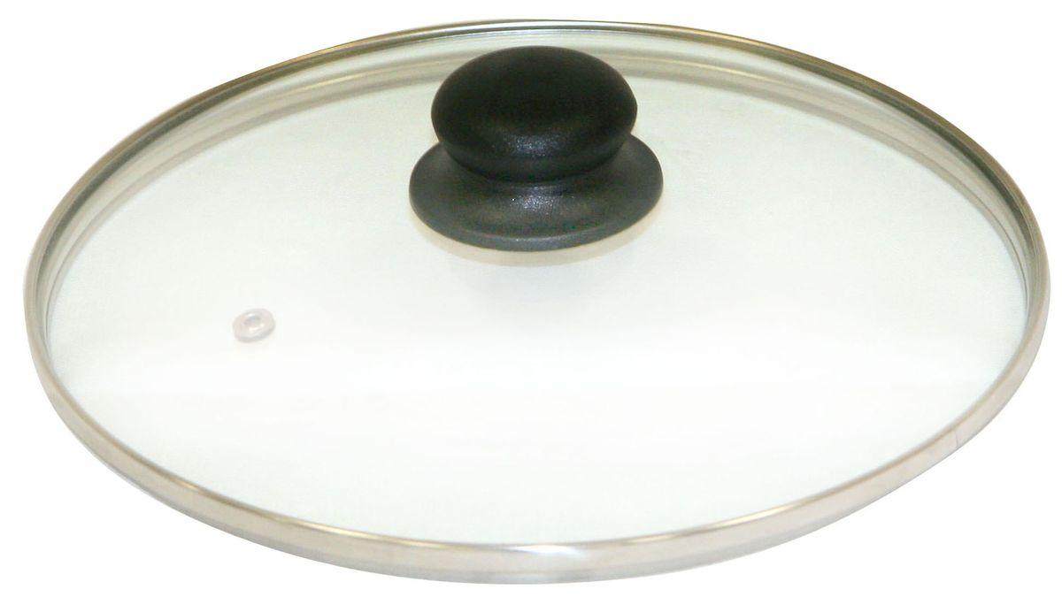 """Крышка """"Axentia"""" изготовлена из жаропрочного стекла. Она оснащена отверстием для выпуска пара, ободом из нержавеющей стали и пластиковой ручкой. Окантовка предохраняет от механических повреждений. Изделие удобно в использовании и позволяет контролировать процесс приготовления пищи."""