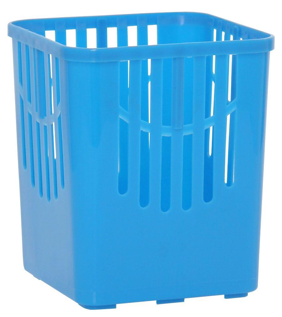 Подставка для столовых приборов Axentia, цвет: синий, 10,5 х 10,5 х 12,5 см232039Подставка для столовых приборов Axentia, выполненная из высококачественного пластика, станет полезным приобретением для вашей кухни. Она хорошо впишется в интерьер, не займет много места, а столовые приборы будут всегда под рукой.Размер подставки: 10,5 х 10,5 х 12,5 см.