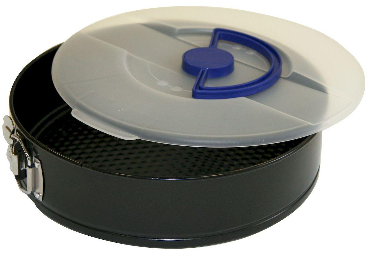 Форма для выпечки Axentia с крышкой, круглая, с антипригарным покрытием, диаметр 26 см253818Круглая форма для выпечки Axentia выполнена из стали с антипригарным покрытием, что предотвращает прилипание пищи к стенкам. Форма имеет разъемный механизм, благодаря чему готовое блюдо очень легко достать из формы. Причем блюдо можно не перекладывать в сервировочную тарелку, а сразу подавать на стол. Такая форма значительно экономит время по сравнению с аналогичными формами для выпечки. Также изделие оснащено пластиковой крышкой.С формой для выпечки Axentia готовить любимые блюда станет еще проще. Подходит для использования в духовом шкафу. Не предназначена для СВЧ-печей.Диаметр формы: 26 см.Высота стенки: 7 см.