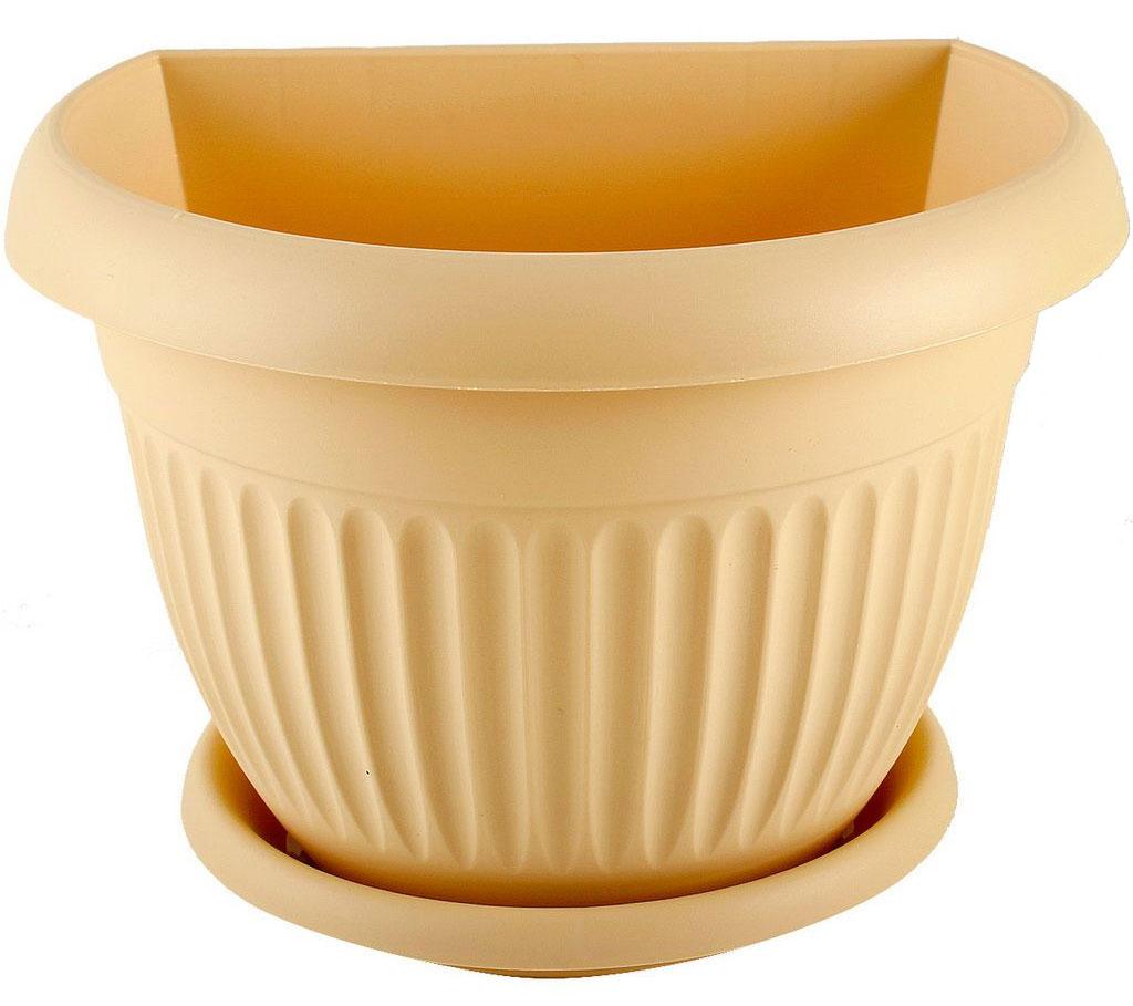 Кашпо настенное Idea Ливия, цвет: белая глина, диаметр 21,5 смМ 3111Настенное кашпо Idea Ливия изготовлено из прочного полипропилена (пластика). Снабжено поддоном для стока воды. Изделие прекрасно подходит для выращивания растений и цветов в домашних условиях. Крепится к стене при помощи двух шурупов (в комплект не входят). Стильный лаконичный дизайн впишется в интерьер любого помещения.