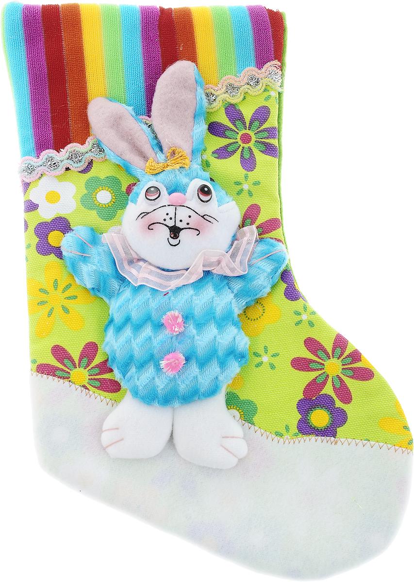 Мешок для подарков Winter Wings Носок. Кролик, 30 х 20 х 2 смN15047Мешок для подарков Winter Wings Носок. Кролик выполнен из полиэстера в виде носка с изображением кролика. В мешочек можно спрятать подарки. С помощью специальной петельки украшение можно повесить в любом понравившемся вам месте. Новогодние украшения несут в себе волшебство и красоту праздника. Они помогут вам украсить дом к предстоящим праздникам и оживить интерьер по вашему вкусу. Создайте в доме атмосферу тепла, веселья и радости, украшая его всей семьей.