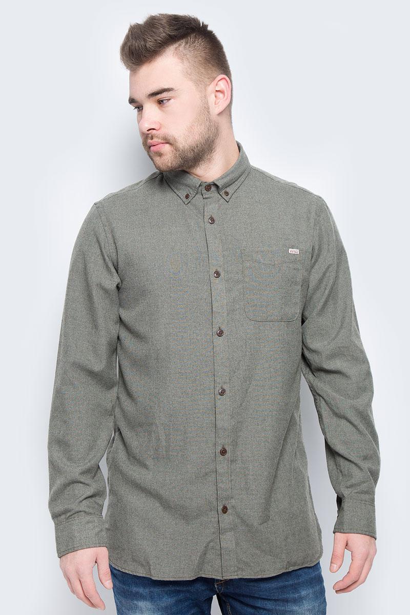 Рубашка мужская Jack & Jones, цвет: хаки. 12113437. Размер L (48) рубашка jack