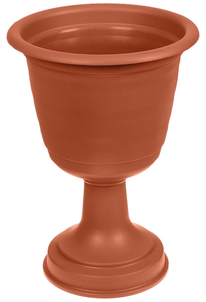 Вазон Idea Ламела, цвет: терракотовый, высота 43,5 смМ 8528Вазон Idea Ламела изготовлен из высококачественного полипропилена. Верхняя часть съемная. Благодаря устойчивому широкому основанию вазон не упадет. Такой вазон прекрасно подойдет для выращивания растений и цветов в домашних условиях. Классический дизайн впишется в любой интерьер. Диаметр (по верхнему краю): 31 см.Высота: 43,5 см.Диаметр основания: 22 см.