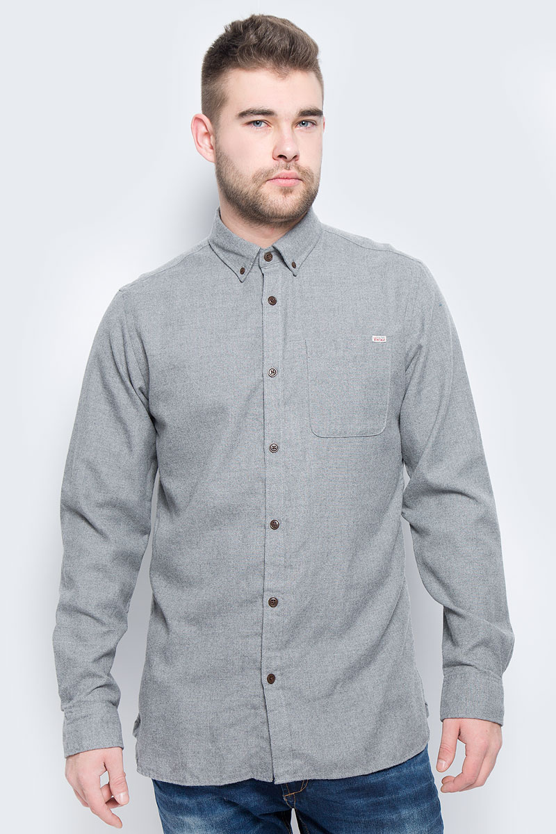 Рубашка мужская Jack & Jones, цвет: серый. 12113437. Размер L (48) рубашка jack