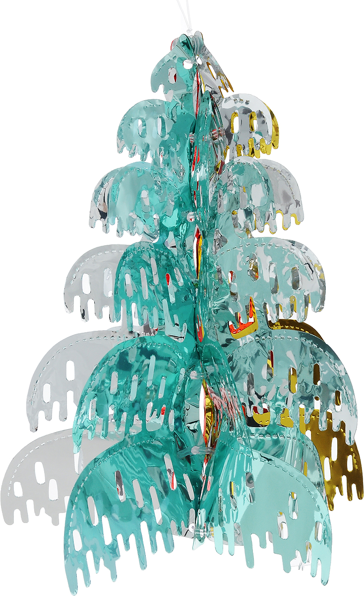 """Новогоднее украшение Winter Wings """"Елочка""""  прекрасно подойдет для декора дома и праздничной елки.  Изделие выполнено из ПВХ. С помощью специальной  петельки украшение можно повесить в любом  понравившемся вам месте. Легко складывается и  раскладывается. Новогодние украшения несут в себе волшебство и  красоту праздника. Они помогут вам украсить дом к  предстоящим праздникам и оживить интерьер по вашему  вкусу. Создайте в доме атмосферу тепла, веселья и  радости, украшая его всей семьей."""