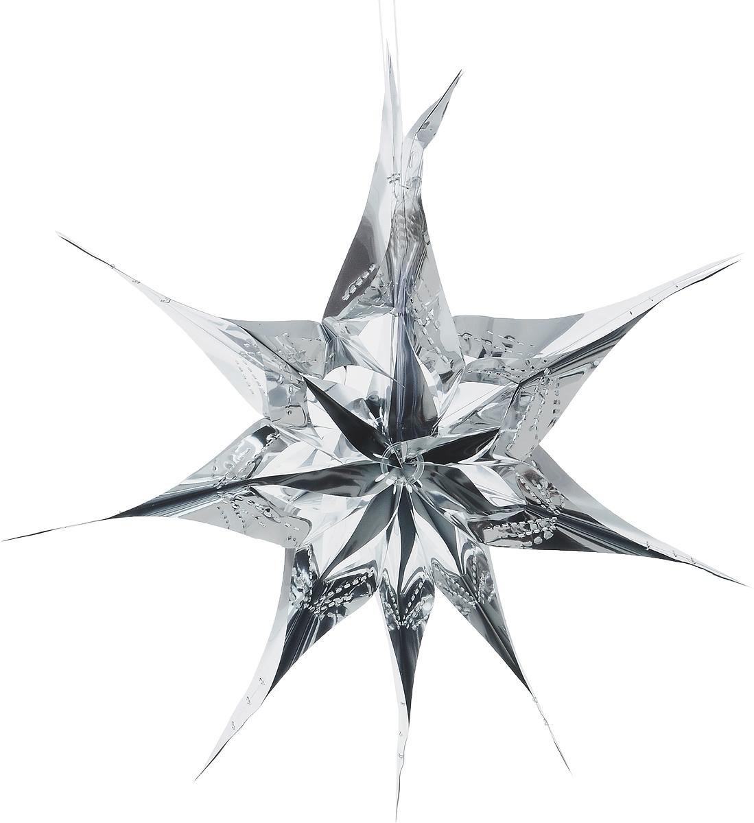 Украшение новогоднее подвесное Winter Wings Звезда, цвет: серебристый, диаметр 30 смN09174_серебристыйНовогоднее украшение Winter Wings Звезда прекрасно подойдет для декора дома и праздничной елки. Изделие выполнено из ПВХ. С помощью специальной петельки украшение можно повесить в любом понравившемся вам месте. Легко складывается и раскладывается.Новогодние украшения несут в себе волшебство и красоту праздника. Они помогут вам украсить дом к предстоящим праздникам и оживить интерьер по вашему вкусу. Создайте в доме атмосферу тепла, веселья и радости, украшая его всей семьей.