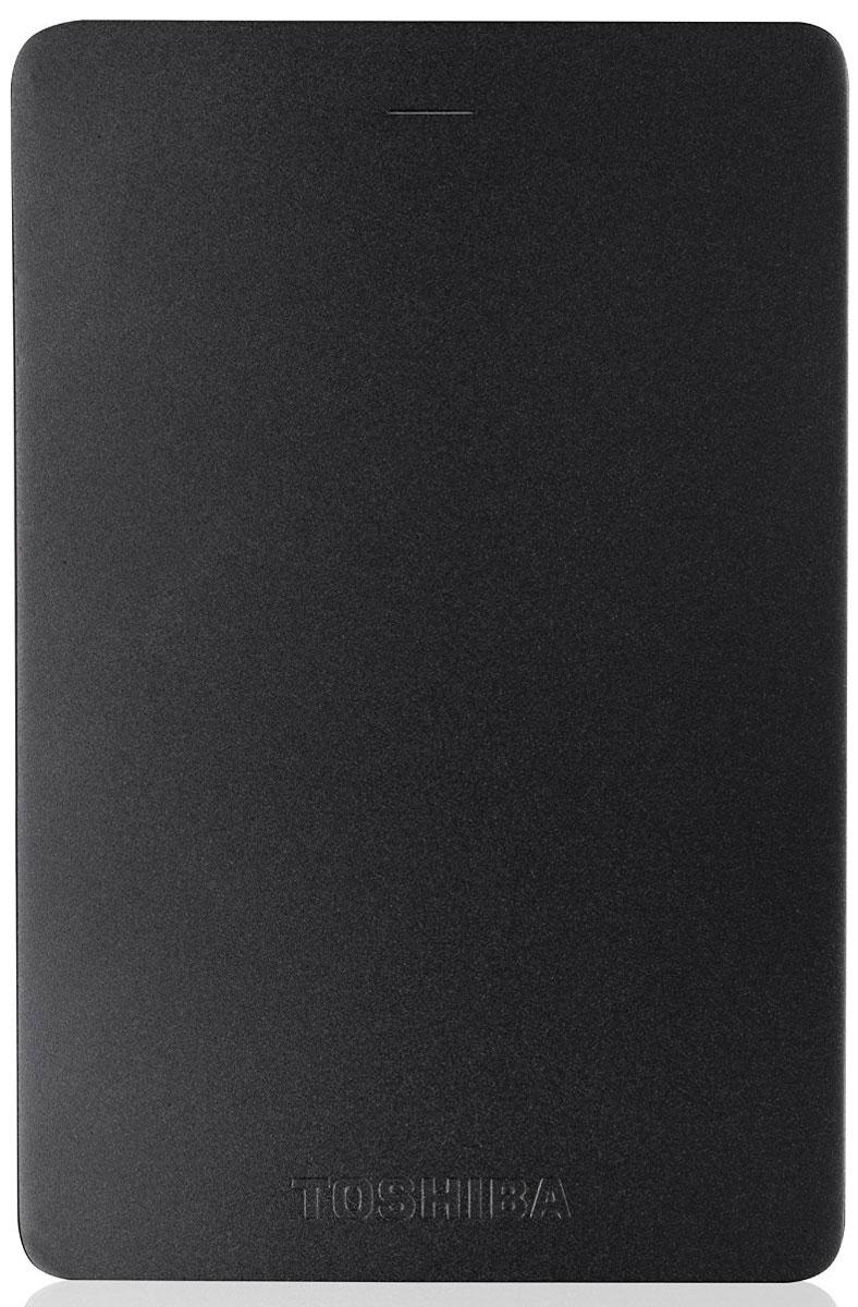 Toshiba Canvio Alu 1TB, Black внешний жесткий диск (HDTH310EK3AA) - Носители информации