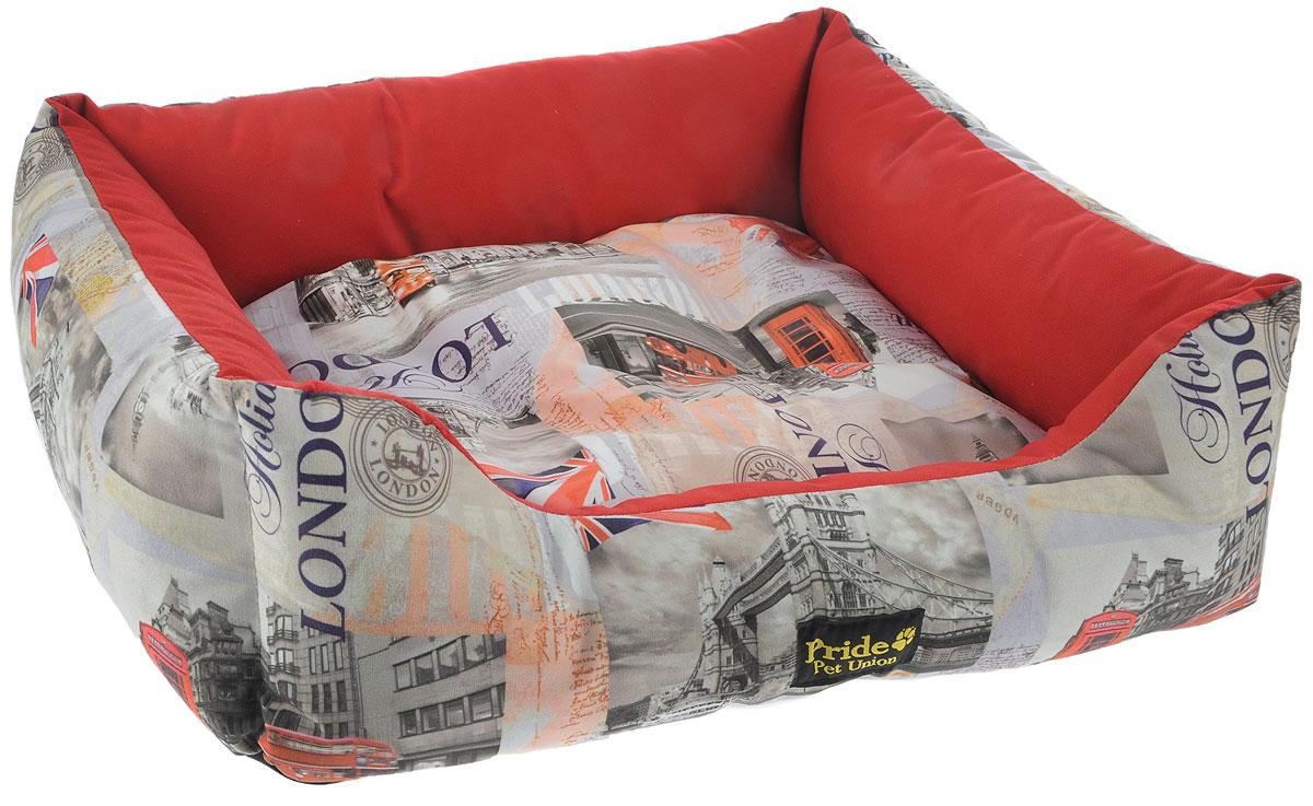 Лежак для животных Pride Лондон, 70 х 60 х 23 см10012262Лежак для животных Pride Лондон прекрасно подойдет для отдыха вашего домашнего питомца. Предназначен для собак средних пород и кошек. Изделие выполнено из прочных материалов высшего качества. Лежак оснащен съемным матрасиком. Комфортный и уютный лежак обязательно понравится вашему питомцу, животное сможет там отдохнуть и выспаться. Размер лежака: 70 х 60 х 23 см.Состав: полиэстер.Наполнитель: 100% холлофайбер.