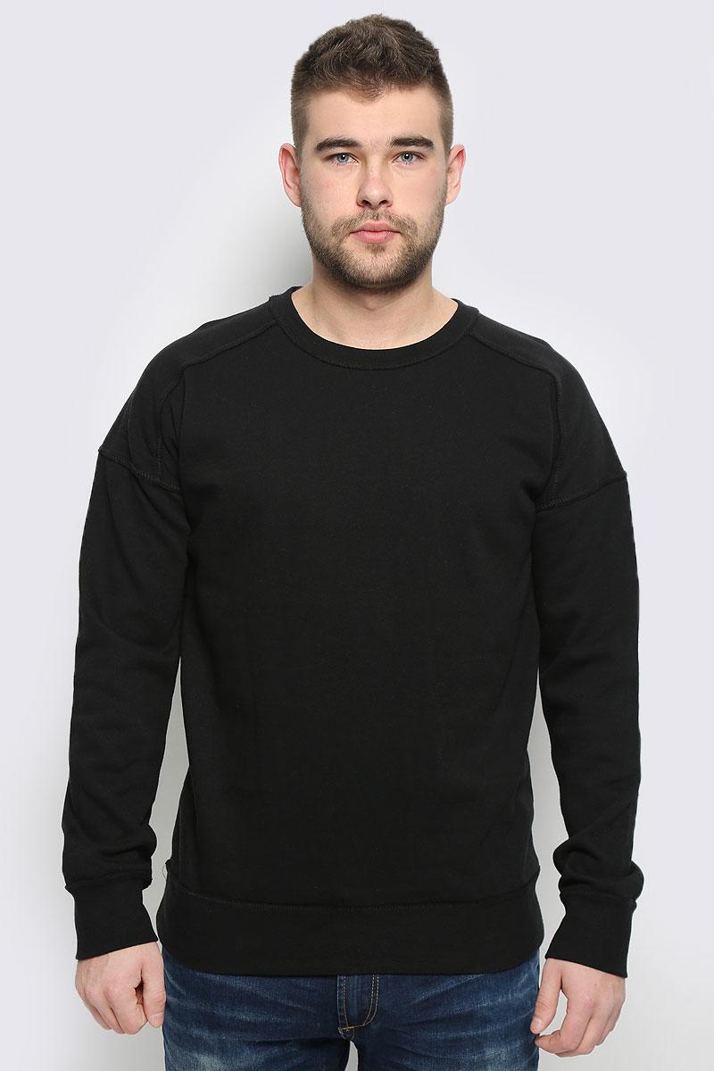 Свитшот мужской Broadway, цвет: черный. 20100260_999. Размер L (50)