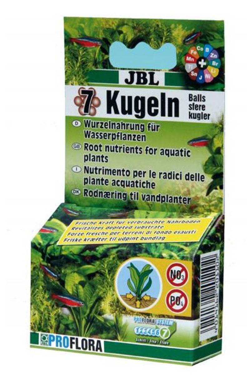 Шарики с удобрениями JBL 7 Kugeln, для корней водных растений, 7 штJBL2011000JBL 7 Kugeln представляет собой твердые шарики с удобрениями, которые содержат все важные для водных растений питательные вещества, в том числе железо и микроэлементы. Питательные вещества подаются к растениям медленно, благодаря чему происходит благоприятное депонентное воздействие. Форма шариков обеспечивает удобное применение в уже оборудованном аквариуме с пресной водой. Особенно хорошо проявляет себя при целенаправленном обеспечении питательными веществами водных растений, которые усваивают их главным образом через корневую систему, в том числе таких как, например, различные виды эхинодоруса, криптокорины и других. В зависимости от величины растений один раз в год поместить в грунт возле корней один или несколько шариков.