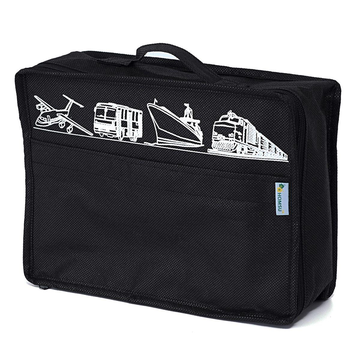 Сумка для багажа Homsu Men in Black, 28 х 20 х 9 смHOM-653Сумка для багажа Homsu Men in Black выполнена из спанбонда и картона. Вместе с оригинальным современным дизайном такая сумка для багажа принесёт также очень существенную практическую пользу в любом путешествии. Благодаря ей вы сможете распределить все вещи, которые возьмёте с собой, таким образом, что всегда будете иметь быстрый доступ к ним, и при этом надёжно защитить от пыли, грязи, влажности или механических повреждений.