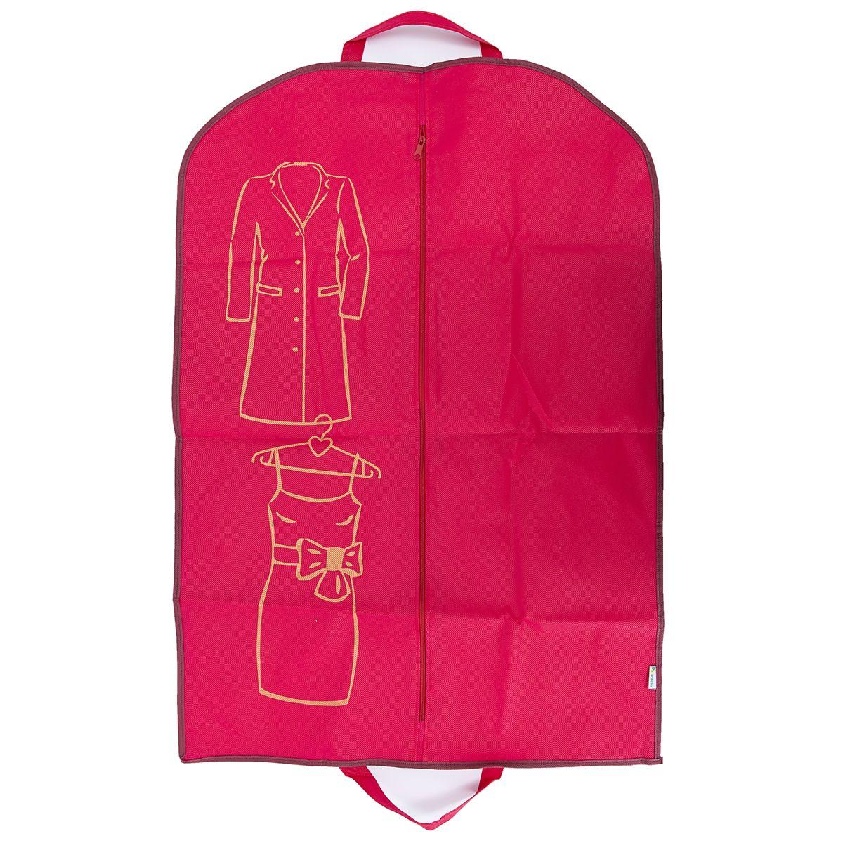Чехол для одежды Homsu Lady in Red, 90 х 60 смHOM-656Удобный чехол для хранения и перевозки одежды. Изготовлен из высококачественного материала, поможет полноценно сберечь вашу одежду, как в домашнем хранении, так и во время транспортировки.