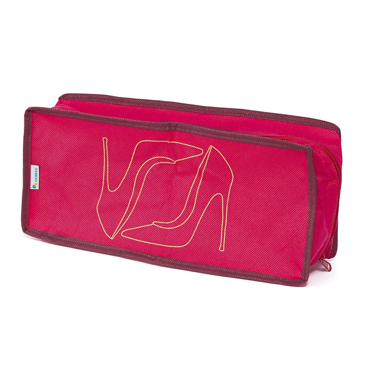 """Органайзер для обуви Homsu """"Lady in Red"""" выполнен из спанбонда и картона. Органайзер для обуви удобно вмещает в себя одну пару обуви, он не проницаемый для влаги и грязи и поможет полноценно сберечь вашу обувь как в домашнем хранении, так и во время транспортировки."""