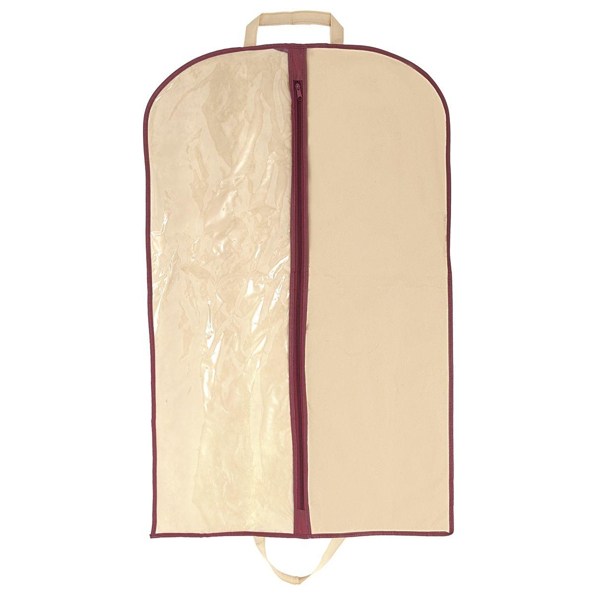 Чехол для одежды Homsu Comfort, цвет: бежевый, 100 x 60 смHOM-680Такой чехол для одежды размером 100Х60см , произведённый в очень оригинальном стиле, поможет полноценно сберечь вашу одежду, как в домашнем хранении, так и во время транспортировки. Благодаря специальному материалу- спанбонду, ваша одежда будет не доступна для моли и не выцветет, а прозрачная половина, выполненная из ПВХ, позволит сразу же определить, что находится внутри. Размер изделия:100x60см