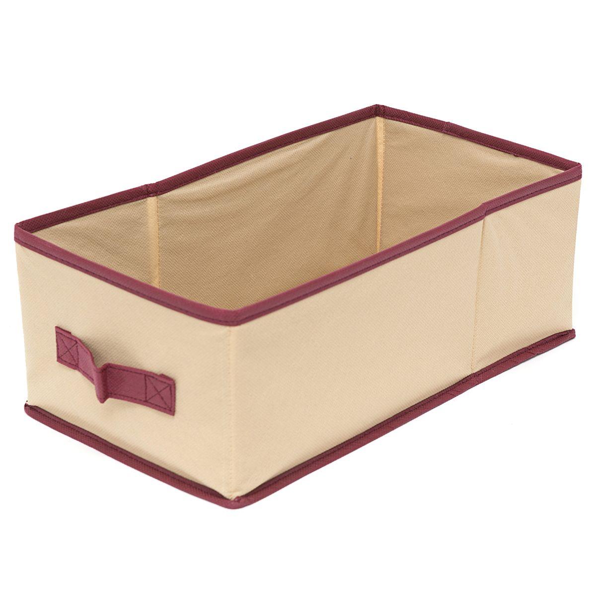 Короб для хранения Homsu Comfort, с ручкой, цвет: бежевый, 37 x 20 x 14 смHOM-683Оптимальный размер универсального короба для хранения Homsu Comfort позволяет хранить в нем любые вещи и предметы. Имеет жесткие борта, что является гарантией сохранности вещей. Размер:37 x 20 x 14 см.