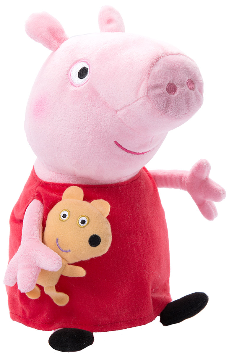 Peppa Pig Мягкая игрушка Пеппа с игрушкой 40 см мягкая игрушка peppa pig джордж с машинкой свинка розовый текстиль 18 см 29620
