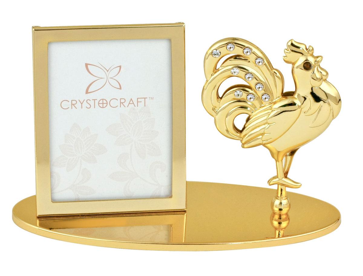 Фоторамка Crystocraft Петух, цвет: золотистыйU0404-042-GC1