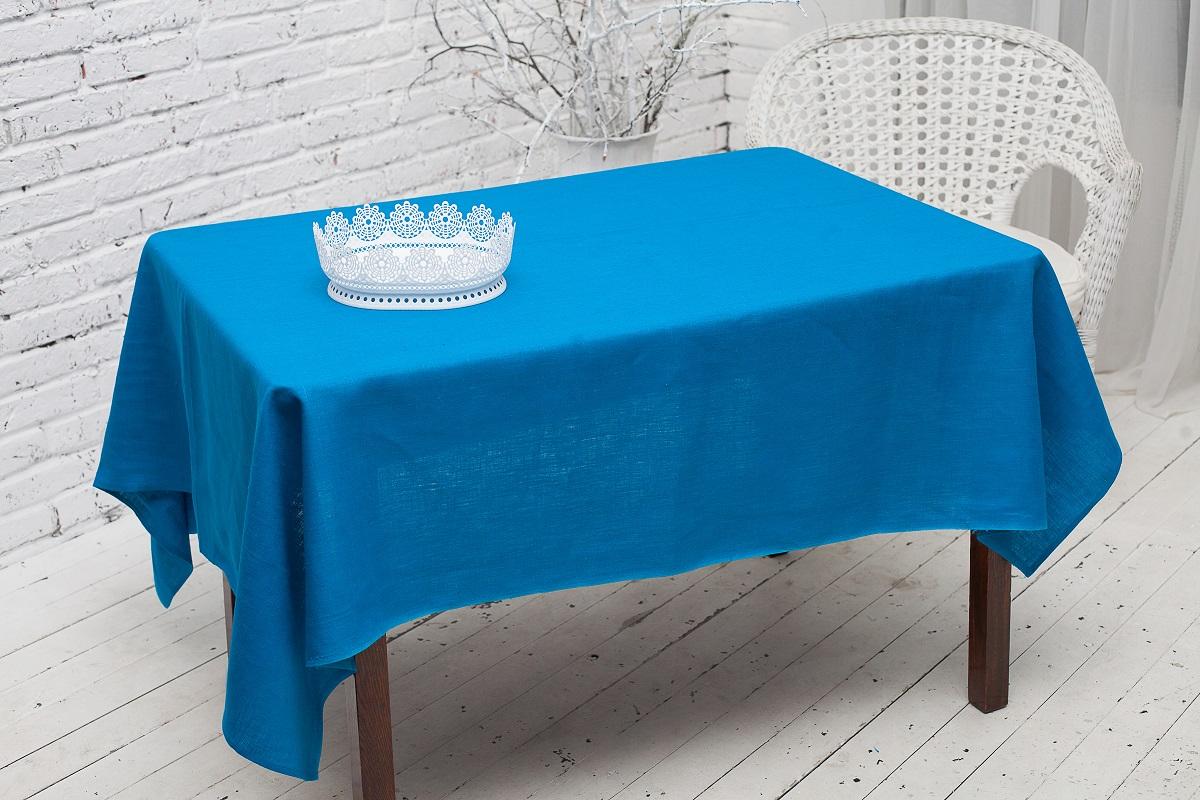 """Скатерть """"Гаврилов-Ямский Лен"""", цвет: синий, 150 x 180 см. 10со1992-2"""