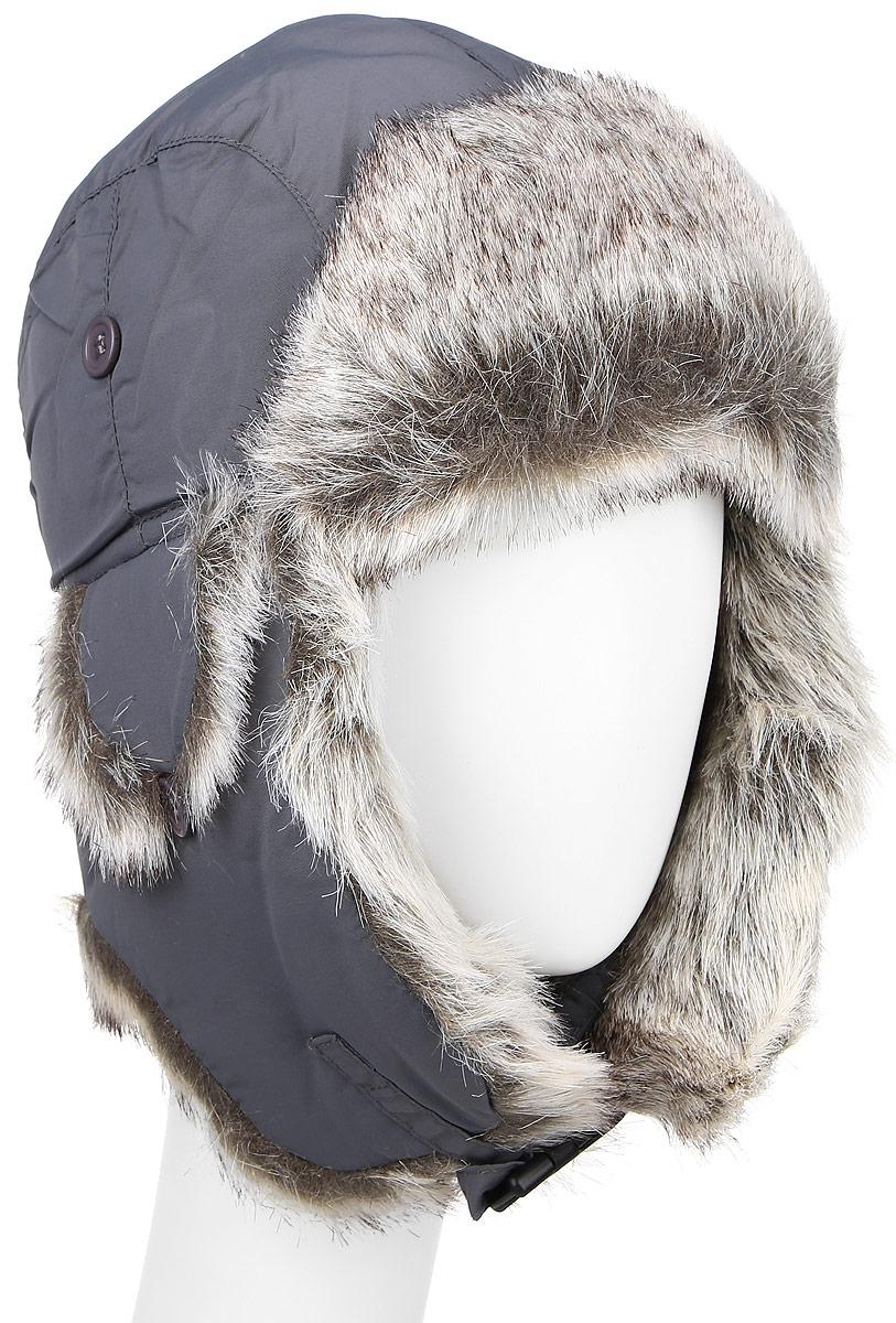 Шапка-ушанка мужская Ignite, цвет: серый. B-9001. Размер M (57)B-9001Удобная и теплая мужская шапка-ушанка с отделкой из искусственного меха Ignite - великолепный головной убор на зиму. Такое изделие, несомненно, понравится и поможет создать всегда актуальный образ. Свойство ушанки сохранять тепло лежит в функциональной конструкции и деталях, плотно закрывающих лоб и уши. Модель застегивается с помощью хлястика с застежкой-защелкой.Уважаемые клиенты!Размер, доступный для заказа, является обхватом головы.