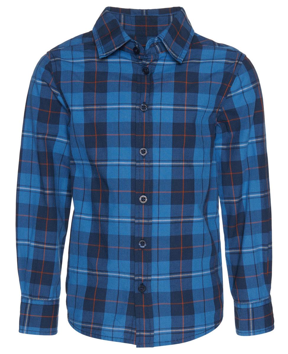 Рубашка для мальчика Tom Tailor, цвет: синий. 2032518.00.82_6811. Размер 104/110 рубашка для мальчика 104