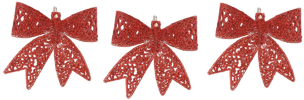 Набор новогодних подвесных украшений Winter Wings Бантики, цвет: красный, 3 штN181719_красныйНабор Winter Wings Бантики состоит из 3 подвесных украшений, выполненных из пластика. Оригинальные новогодние украшения прекрасно подойдут для праздничного декора дома и новогодней ели. С помощью специального отверстия или застежки-крокодильчика их можно повесить в любом понравившемся вам месте. Но, конечно, удачнее всего такие игрушки будут смотреться на праздничной елке. Елочная игрушка - символ Нового года и Рождества. Она несет в себе волшебство и красоту праздника. Создайте в своем доме атмосферу веселья и радости, украшая новогоднюю елку нарядными игрушками, которые будут из года в год накапливать теплоту воспоминаний.