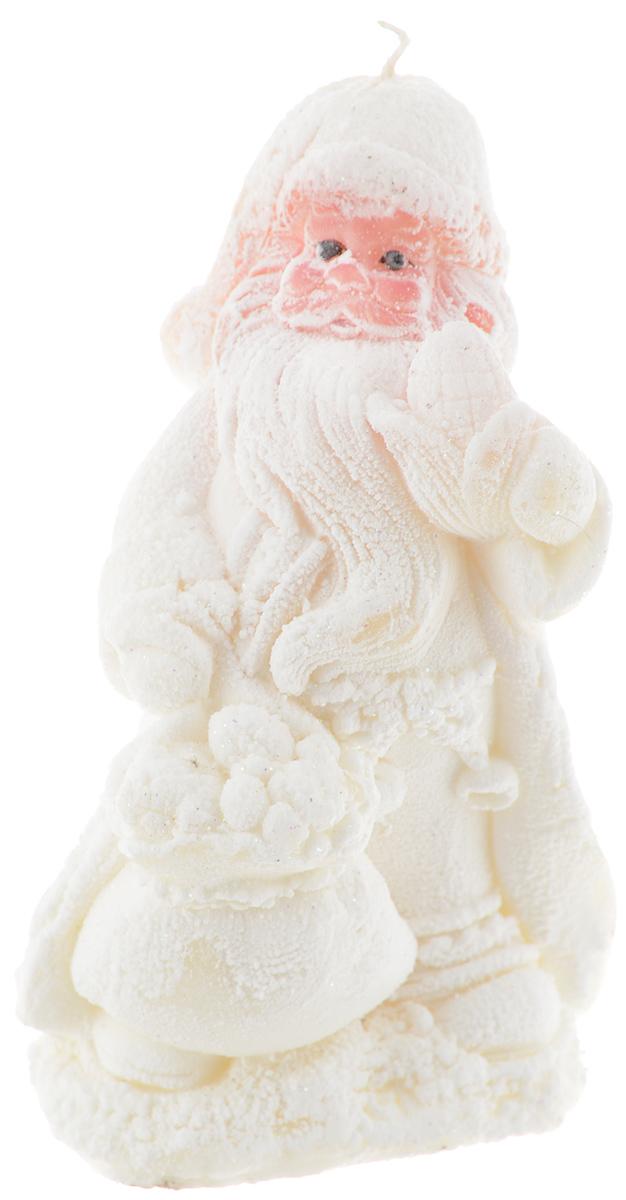 Свеча Winter Wings Заснеженный Дед Мороз, высота 14,5 см