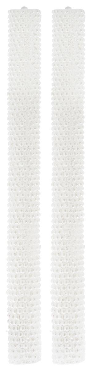 Набор свечей Winter Wings Жемчуг, цвет: белый, высота 24,5 см, 2 шт набор свечей winter wings классика цвет голубой высота 25 см 4 шт