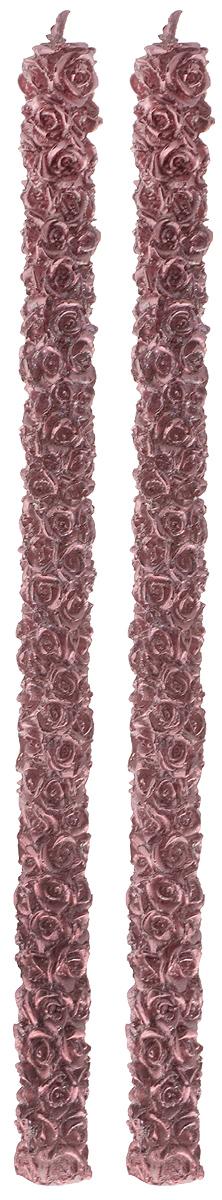 Набор свечей Winter Wings Розы, цвет: розовый, высота 29,5 см, 2 шт набор свечей winter wings сувенирные свечи 6 шт 4 см n161419