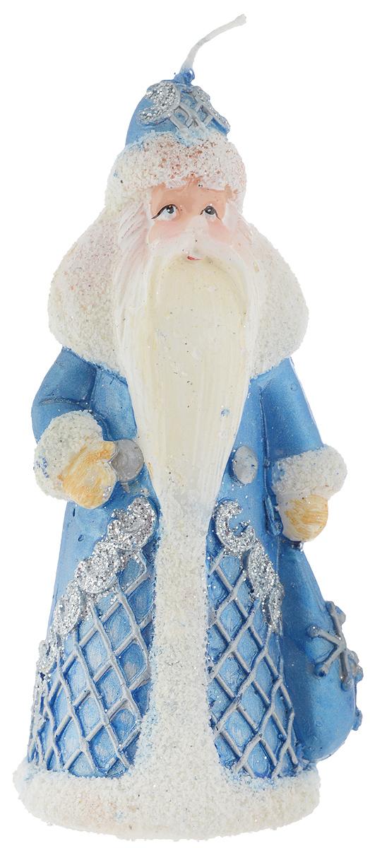 Свеча Winter Wings Дед Мороз, высота 14 см свеча winter wings снеговик светящаяся внутри 70х120 мм n161412 в ассортименте