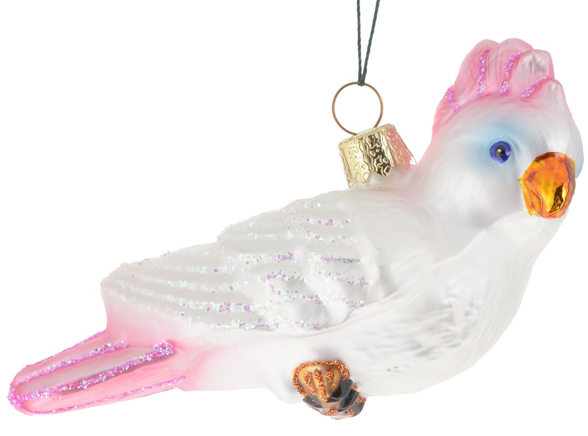 Украшение новогоднее подвесное Winter Wings Попугай, 9 х 4 х 11 смN07214Новогоднее подвесное украшение Winter Wings Попугай прекрасно подойдет для праздничного декора новогодней ели. Изделие выполнено из высококачественного стекла с блестками. Для удобного размещения на елке на украшении предусмотрено ушко и веревочка.Елочная игрушка - символ Нового года. Она несет в себе волшебство и красоту праздника. Создайте в своем доме атмосферу веселья и радости, украшая новогоднюю елку нарядными игрушками, которые будут из года в год накапливать теплоту воспоминаний. Откройте для себя удивительный мир сказок и грез. Почувствуйте волшебные минуты ожидания праздника, создайте новогоднее настроение вашим дорогим и близким.