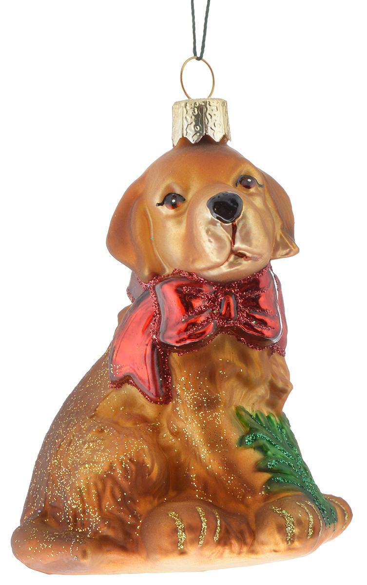 Украшение новогоднее подвесное Winter Wings Собачка, 7 х 6 х 8 смN07123Новогоднее подвесное украшение Winter Wings Собачка прекрасно подойдет для праздничного декора новогодней ели. Изделие выполнено из высококачественного стекла с блестками. Для удобного размещения на елке на украшении предусмотрено ушко и веревочка.Елочная игрушка - символ Нового года. Она несет в себе волшебство и красоту праздника. Создайте в своем доме атмосферу веселья и радости, украшая новогоднюю елку нарядными игрушками, которые будут из года в год накапливать теплоту воспоминаний. Откройте для себя удивительный мир сказок и грез. Почувствуйте волшебные минуты ожидания праздника, создайте новогоднее настроение вашим дорогим и близким.