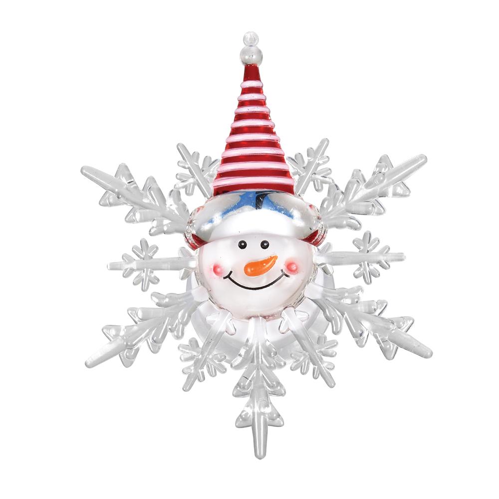Фигура светодиодная Vegas Снеговик, на присоске, свет: мультиколор, 10 х 12 см55054Светодиодная фигура Vegas Снеговик на присоске станет прекрасным украшением домашнего интерьера или послужит просто символичным новогодним комплиментом. Плавная смена цвета создаст приятное праздничное настроение.