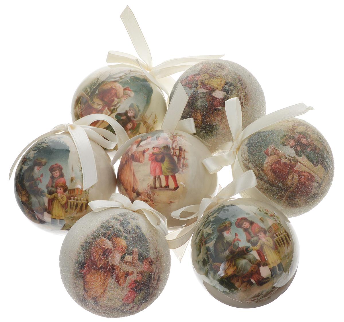"""Набор Winter Wings """"Новогодняя сказка"""" отлично подойдет для декорации вашего дома и новогодней ели. Набор состоит из 7 украшений, выполненных из пластика в виде шаров. Изделия оснащены специальными текстильными петельками для подвешивания в виде бантиков.  Набор упакован в красочную подарочную коробку.  Елочная игрушка - символ Нового года. Она несет в себе волшебство и красоту праздника. Создайте в своем доме атмосферу веселья и радости, украшая всей семьей новогоднюю елку нарядными игрушками, которые будут из года в год накапливать теплоту воспоминаний."""