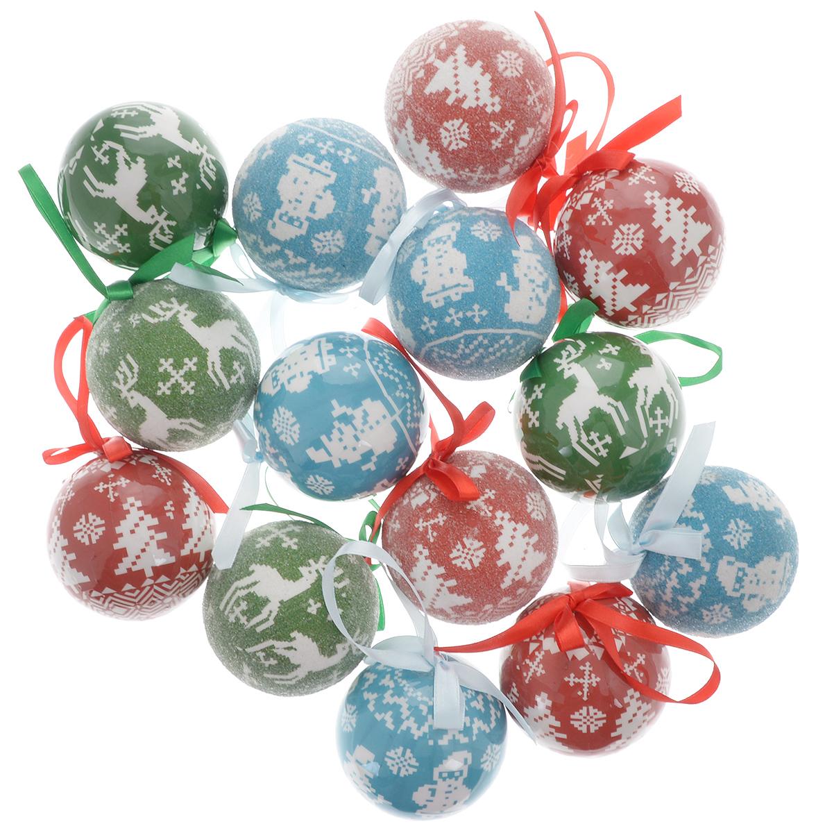 Набор новогодних подвесных украшений Winter Wings, диаметр 7,5 см, 14 штN181179Набор подвесных украшений Winter Wings прекрасно подойдет для праздничного декора новогодней ели. Набор состоит из 14 пластиковых украшений. Для удобного размещения на елке для каждого украшения предусмотрена петелька, выполненная из текстиля.Елочная игрушка - символ Нового года. Она несет в себе волшебство и красоту праздника. Создайте в своем доме атмосферу веселья и радости, украшая новогоднюю елку нарядными игрушками, которые будут из года в год накапливать теплоту воспоминаний. Откройте для себя удивительный мир сказок и грез. Почувствуйте волшебные минуты ожидания праздника, создайте новогоднее настроение вашим дорогим и близким.
