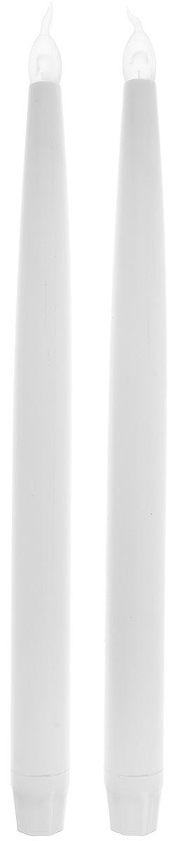 Набор свечей Winter Wings LED, высота 27 см, 2 штN161727Набор Winter Wings Led состоит из 2 декоративных свечей. Изделия выполнены из пластика. Такой набор можно использовать в декоре интерьера. Такие свечи Winter Wings создают имитацию обычных свечей. Они безопасны в использовании, не оставляют никаких пятен от воска и дыма, а также исключают вероятность возникновения пожара.Благодаря этому набору ваши праздники и будни окрасятся в новые цвета, а ваши дети будут засыпать, не боясь темноты.