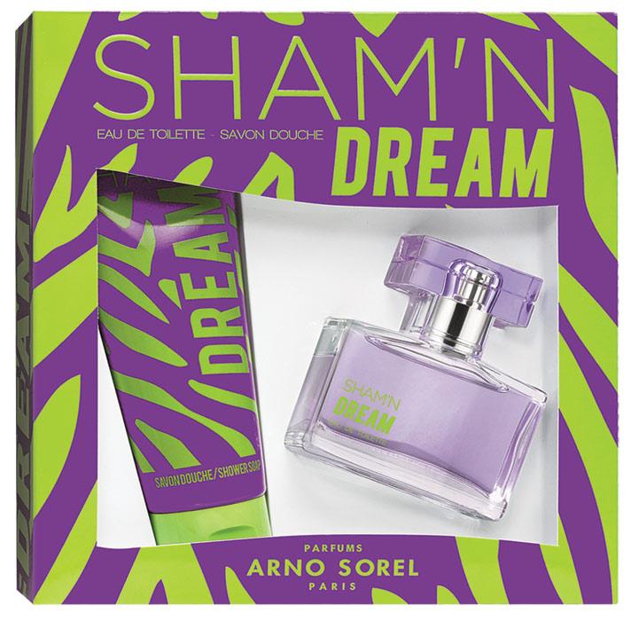 Corania Подарочный набор Sham'n Dream женский : Туалетная вода, 50мл, гель для душа 100мл42458Подарочный набор для женщин : туалетная вода 50мл, парфюмированный гель для душа 100 мл.Аромат: Свежий, цветочный