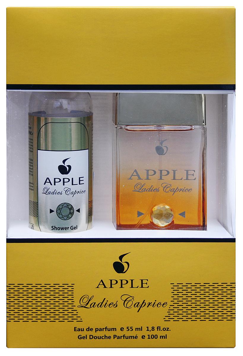 Apple Parfums Подарочный набор Apple Femme Ladies Caprice, женский Туалетная вода , 55мл , гель для душа 100мл43387Подарочный набор для женщин : туалетная вода 55мл, парфюмированный гель для душа 100 мл. Аромат: свежий, цветочный