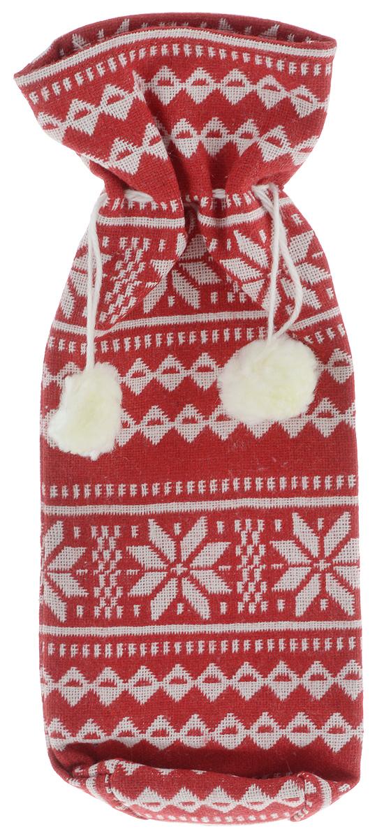 Мешок подарочный для бутылки Winter Wings Норвежские узоры, 7 х 7 х 35 смN02305/КРБЕЛНовогодний мешок на кулиске Winter Wings Норвежские узоры, выполненный из полиэстера, украшен оригинальным рисунком и помпонами. Этот аксессуар предназначен специально для красивого оформления бутылки или служит дополнительным элементом для подарка.Размер мешка: 7 х 7 х 35 см.