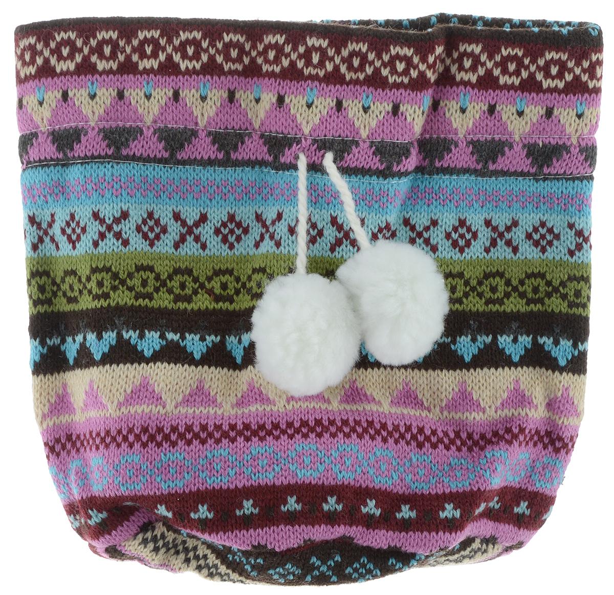 Мешок для подарков Winter Wings Жаккард темный, 15 х 10 х 19 смN02307Мешок для подарков Winter Wings Жаккард темный выполнен из полиэстера. В мешочек можно положить подарки и спрятать под елку. Изделие очень мягкое и приятное на ощупь. С помощью специальных шнурков с помпонами мешочек легко затягивается и завязывается. Новогодние украшения несут в себе волшебство и красоту праздника. Они помогут вам украсить дом к предстоящим праздникам и оживить интерьер по вашему вкусу. Создайте в доме атмосферу тепла, веселья и радости, украшая его всей семьей.