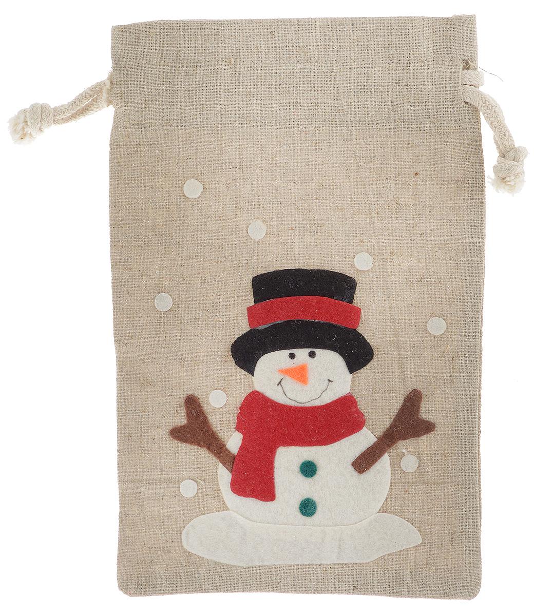 Мешок для подарков Winter Wings Новогодние герои кантри. Снеговик, 13 х 20,5 смN14070_снеговикМешок Winter Wings Новогодние герои кантри, выполненный из полиэстера, предназначен для подарков. Мешочек украшен аппликацией в виде снеговика и падающего снега. Такой аксессуар особенно актуален в преддверии новогодних праздников. Откройте для себя удивительный мир сказок и грез. Почувствуйте волшебные минуты ожидания праздника, создайте новогоднее настроение вашим дорогим и близким.