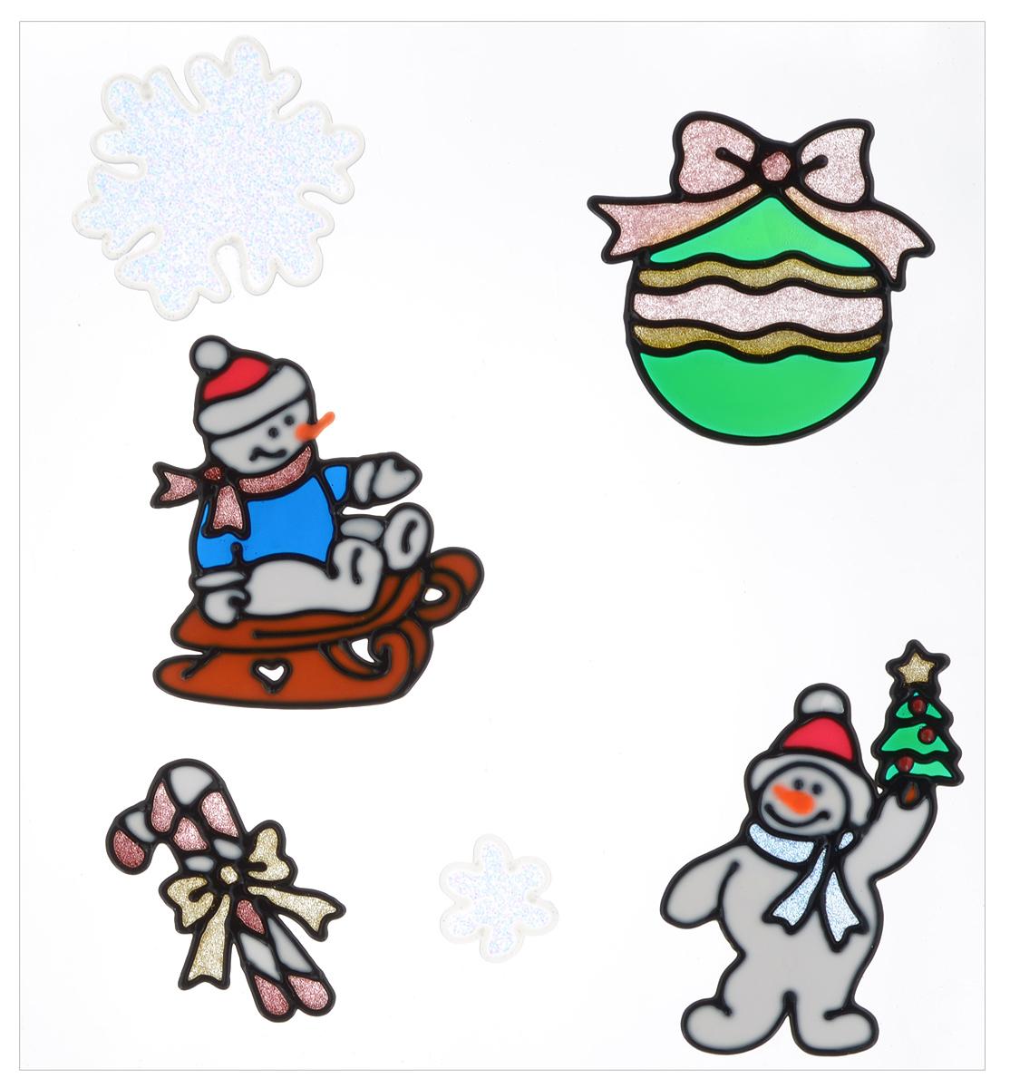 Украшние новогоднее оконное Winter Wings Снеговики, 6 штN09321Новогоднее оконное украшение Winter Wings Снеговики поможет украсить дом к предстоящим праздникам. Наклейки изготовлены из ПВХ.С помощью этих украшений вы сможете оживить интерьер по своему вкусу, наклеить их на окно, на зеркало или на дверь.Новогодние украшения всегда несут в себе волшебство и красоту праздника. Создайте в своем доме атмосферу тепла, веселья и радости, украшая его всей семьей. Размер листа: 31 х 30 см. Количество наклеек на листе: 6 шт. Размер самой большой наклейки: 11,5 х 10,5 см. Размер самой маленькой наклейки: 4 х 4 см.