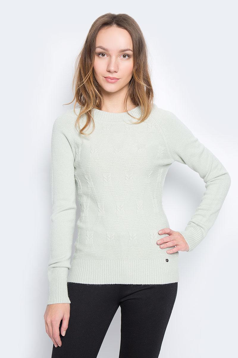 Джемпер женский Finn Flare, цвет: бледно-зеленый. W16-32111_510. Размер M (46) джемпер мужской finn flare цвет темно синий бежевый w16 22105 101 размер s 46