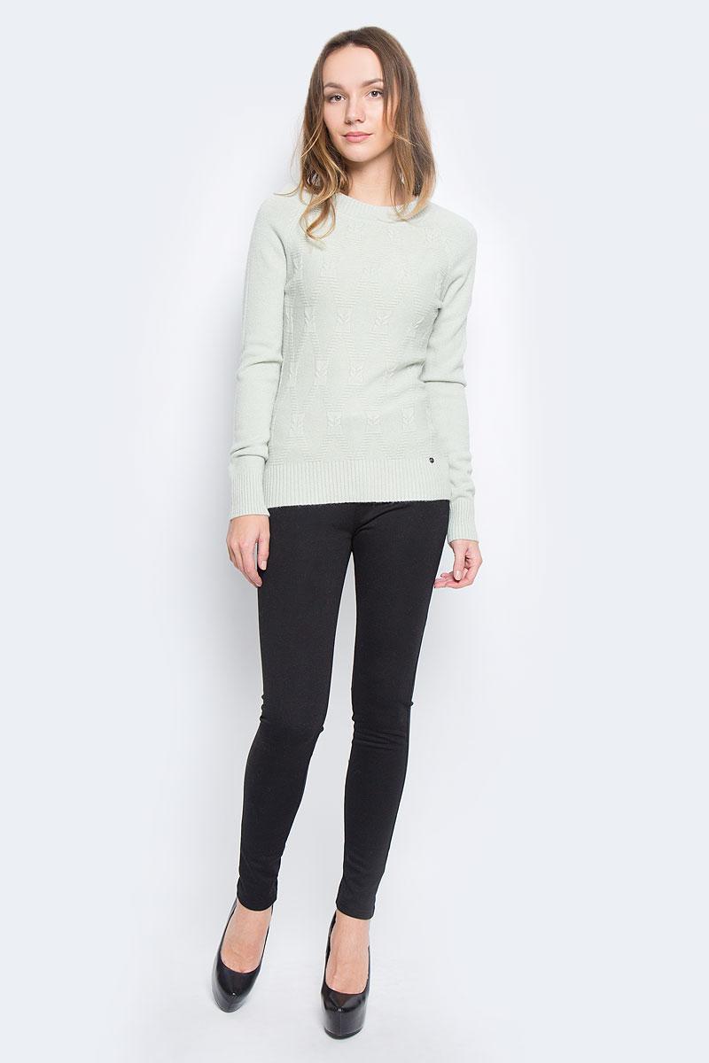 Джемпер женский Finn Flare, цвет: бледно-зеленый. W16-32111_510. Размер M (46) брюки женские finn flare цвет черный w16 170150 200 размер m 46