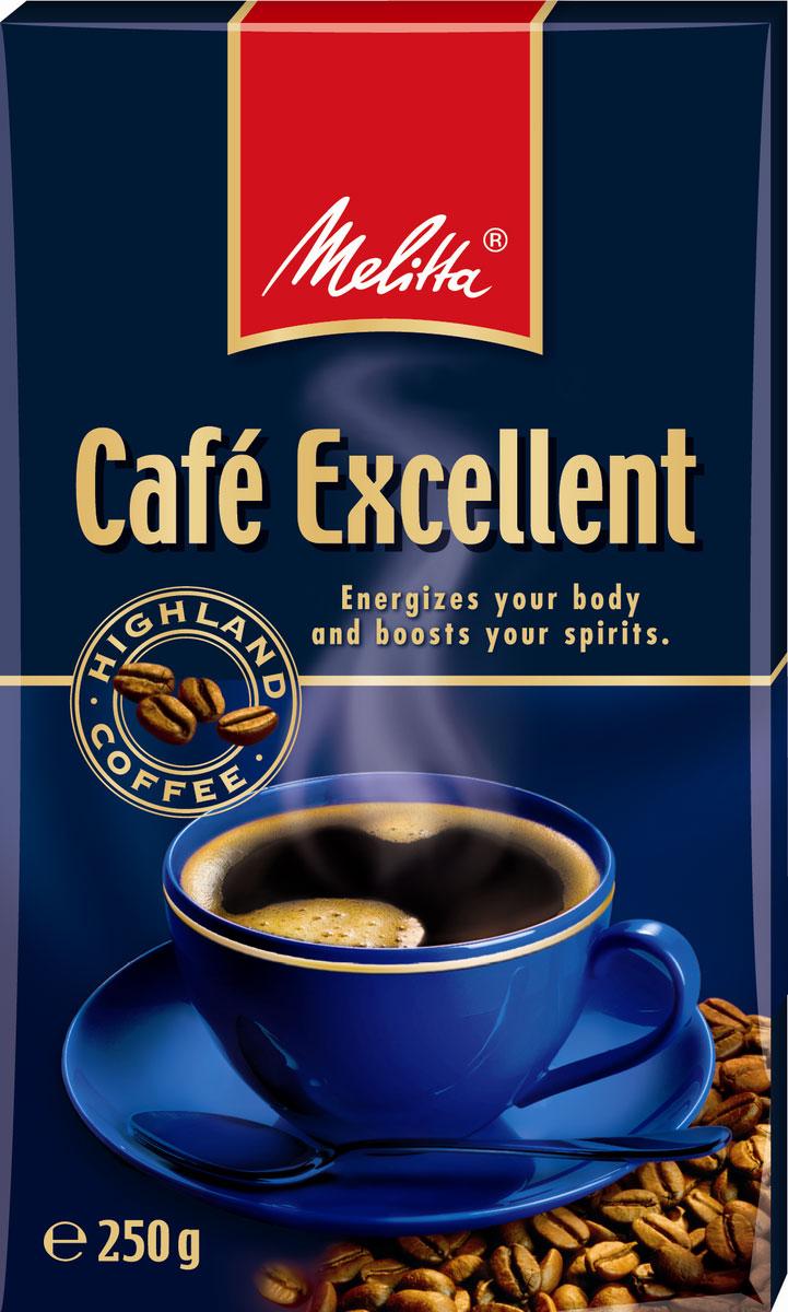 Melitta Excellent кофе молотый, 250 г00284Кофе тонкого (мелкого) помола. Специальная вакуумная упаковка препятствует попаданию воздуха в пакет и позволяет тем самым полностью сохранять аромат. Степень обжарки средняя. Состав: 100% Арабика.Способ приготовления: использовать для приготовления кофе в ароматической кофемашине или в турке из расчета 1-2 чайных ложки (6-7 г) на чашку.Кофе: мифы и факты. Статья OZON Гид
