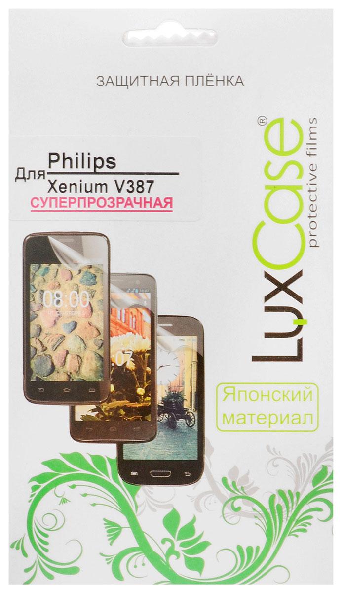 Luxcase защитная пленка для Philips Xenium V387, суперпрозрачная все цены