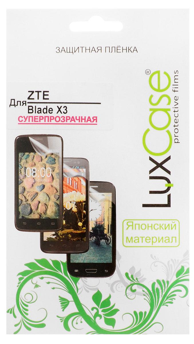 LuxCase защитная пленка для ZTE Blade X3, суперпрозрачная аксессуар защитная пленка zte blade z10 luxcase прозрачная на весь экран 88260