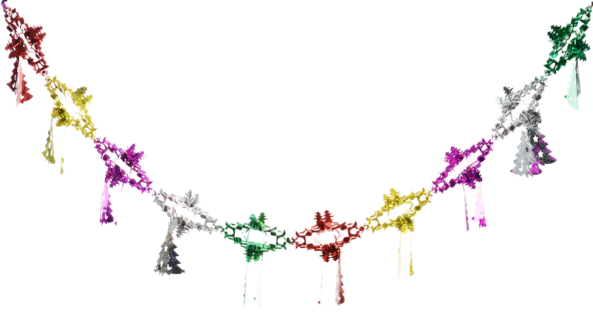 Гирлянда новогодняя Magic Time Елочки со снежинкой цветные, 35 x 21 x 200 см42112Новогодняя гирлянда Magic Time Елочки со снежинкой цветные прекрасно подойдет для декора дома и праздничной елки. Украшение выполнено из ПЭТ. С помощью специальной петельки гирлянду можно повесить в любом понравившемся вам месте. Легко складывается и раскладывается.Новогодние украшения несут в себе волшебство и красоту праздника. Они помогут вам украсить дом к предстоящим праздникам и оживить интерьер по вашему вкусу. Создайте в доме атмосферу тепла, веселья и радости, украшая его всей семьей.